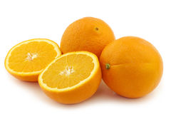 2 всего и 2 половин апельсина Стоковое Изображение RF