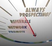Всегда ищущ продающ методы продаж находя новый клиент Стоковое Фото