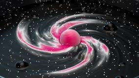 Вселенная в концепции кружки акции видеоматериалы