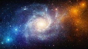 Вселенная заполнила с звездами, межзвёздным облаком и галактикой Элементы этого стоковые фотографии rf