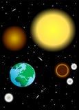 вселенный иллюстрации Стоковое Изображение RF