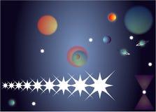 вселенный ночного неба Стоковое Изображение RF