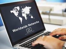 Всемирная концепция технологии глобализации соединения сетей Стоковое Изображение