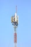 Всемирное сообщение, спутник и другое aga сети антенны Стоковые Изображения RF