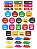 Всемирные значки и значки доставки Стоковая Фотография