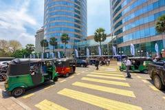 Всемирный торговый центр и банк зданий Цейлона высокое здание в Коломбо Стоковые Изображения