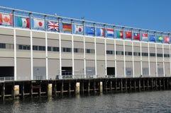 Всемирный торговый центр морского порта в Бостоне Стоковое Изображение RF