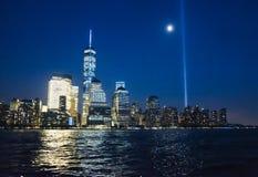 Всемирный торговый центр на ноче Стоковое фото RF