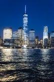 Всемирный торговый центр на ноче Стоковое Фото