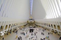 Всемирный торговый центр Нью-Йорк Westfield - современное buidling- МАНХАТТАН - НЬЮ-ЙОРК - 1-ое апреля 2017 Стоковое Фото