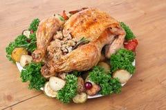 Всем цыпленок заполненный жарким Стоковое Изображение