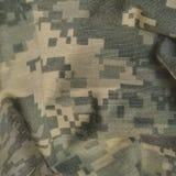 Всеобщая картина камуфлирования, camo боя армии равномерное цифровое, крупный план макроса ACU США воинский, детальная большая тк Стоковая Фотография