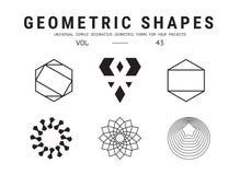 Всеобщие геометрические установленные формы Стоковая Фотография