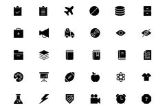 Всеобщие передвижные значки 7 вектора бесплатная иллюстрация