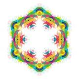 Всеобщий абстрактный яркий красочный шестиугольник иллюстрация штока