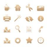 Всеобщий комплект икон одного Стоковые Фотографии RF