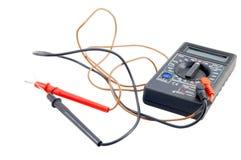 Всеобщий прибор вольтамперомметр на белой предпосылке Стоковые Фото