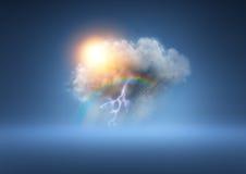 Всепогодное облако Стоковые Изображения