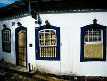 Всепокорные дома в Ouro Preto Стоковое Изображение RF