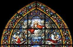 всесильный стеклянным окно бога запятнанное лордом Стоковое Фото