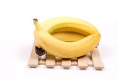 3 всех банана изолированного над белой предпосылкой Стоковая Фотография