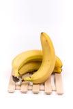 3 всех банана изолированного над белой предпосылкой Стоковая Фотография RF