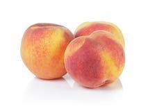 3 всех зрелых персика Стоковое Изображение