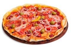 2 всех пиццы на деревянном столе Стоковая Фотография