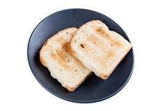 2 всех провозглашанного тост куска зерна хлеба Стоковая Фотография