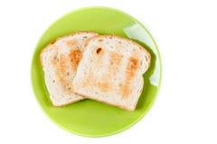 2 всех провозглашанного тост куска зерна хлеба Стоковые Фотографии RF