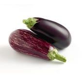 2 всех свежих разнообразия aubergine Стоковое Изображение