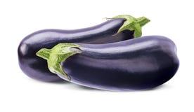 2 всех aubergines на белизне Стоковое Изображение