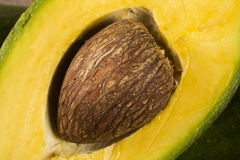 Все авокадоы и авокадо отрезали в половине Стоковые Фото