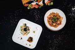 Все-азиатский обедающий Комплект обеда нескольких блюд Стоковое Фото