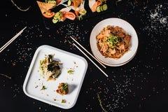 Все-азиатский обедающий Комплект обеда нескольких блюд Стоковое фото RF