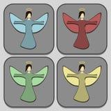 все ангелы все предметы иллюстрации элементов рождества индивидуальные вычисляют по маштабу текстуры размера для того чтобы vecto Стоковая Фотография RF