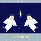 все ангелы все предметы иллюстрации элементов рождества индивидуальные вычисляют по маштабу текстуры размера для того чтобы vecto Стоковое фото RF