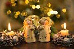 все ангелы все предметы иллюстрации элементов рождества индивидуальные вычисляют по маштабу текстуры размера для того чтобы vecto Стоковые Фотографии RF