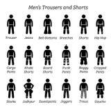 Все брюки людей, тяжелое дыхание и замыкают накоротко дизайны иллюстрация вектора