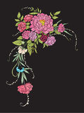 все все предметы флористической иллюстрации элементов состава индивидуальные вычисляют по маштабу текстуры размера для того чтобы Стоковая Фотография