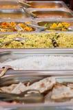 Все вы можете съесть выбор шведского стола обеда еды Стоковая Фотография RF