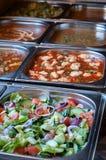 Все вы можете съесть выбор шведского стола обеда еды Стоковое Фото