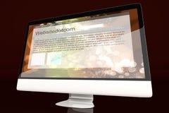 Все в одном компьютере показывая родовой вебсайт Стоковое Изображение RF