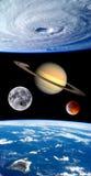 Вселенная планет фантазии земли Стоковые Фотографии RF
