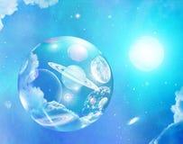 Вселенная фантазии пузыря Стоковые Изображения RF