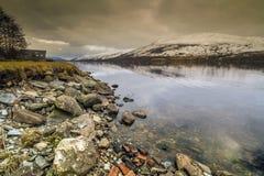 Все еще вода на Lochernhead в Шотландии Стоковое Фото