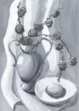 все еще жизнь с вазой Стоковое Изображение