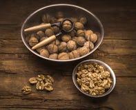 Все еще жизнь с грецкими орехами Стоковые Фото
