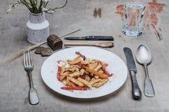 Все еще макаронные изделия еды жизни Стоковые Фото