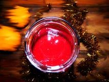 Все еще праздничное варенье десерта с tangerines и сияющей сусалью Стоковая Фотография